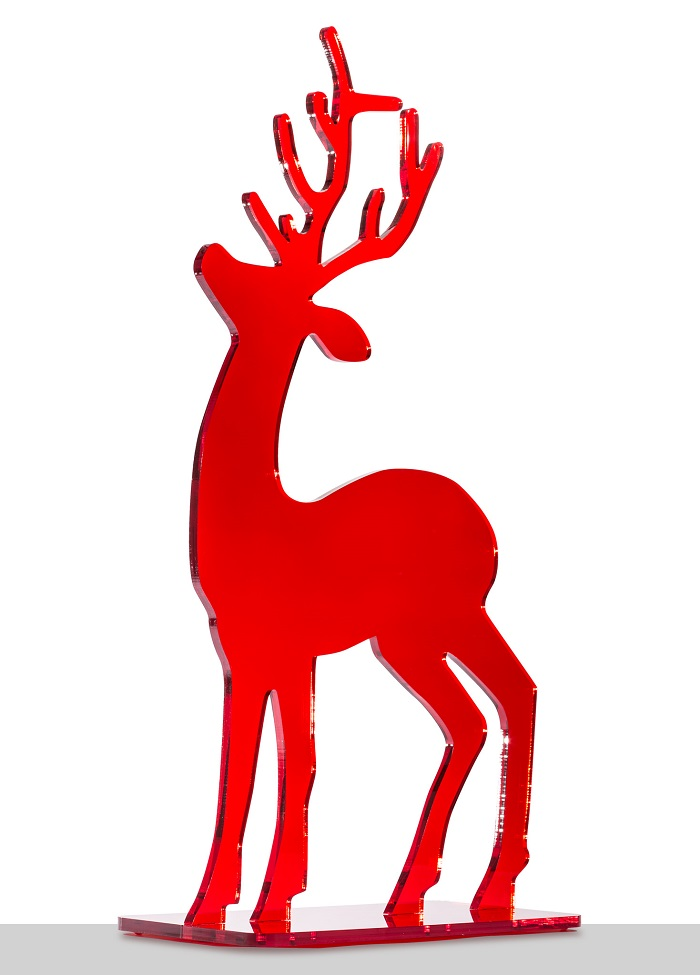 Hirsch aus rotem Acrylglas
