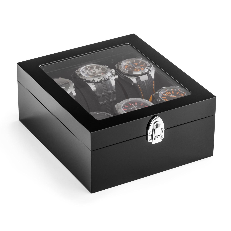 Acrylglas-Uhrenkasten 200 x 175 mm, schwarz